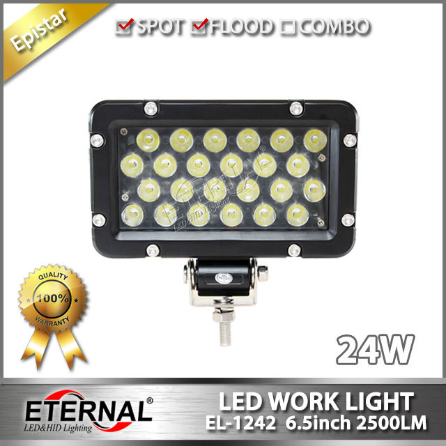 free shipping 10pcs 24W driving light 7in off road headlight powersports 4x4 buggy ATV UTV led work light marine spot light<br><br>Aliexpress
