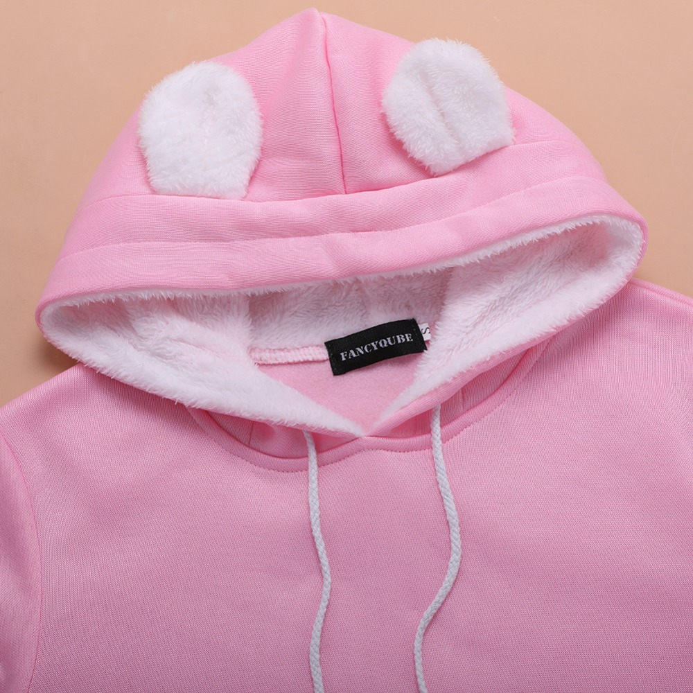 17 New Cartoon Hooded Hoodies Lover Cats Kangaroo Dog Hoodie Long Sleeve Sweatshirt Front Pocket Casual Animal Ear Hoodie 20