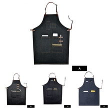 Fashion Cotton Apron BBQ Apron for Men Women Chef Uniform Restaurant Kitchen Cooking Clothing Painter Carpenter Work Wear(China)