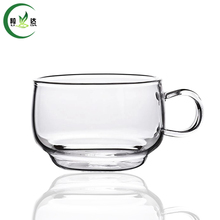 65ml High Quality Heat-Resisting Glass Tea Cup Xiao Ba Cup Coffee Green Tea Cup Da Hong Pao Cup(China)