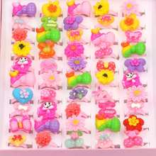 10 pcs/lot Flower Bowknot Heart Assorted Children's Cartoon Rings (Randomized Send)
