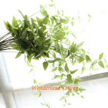 Green Fake Grass Artificial Plants Wire bracketplant Pteridophyte For Store Dest Home Decoration Wedding Plastic Imitation Fern(China)