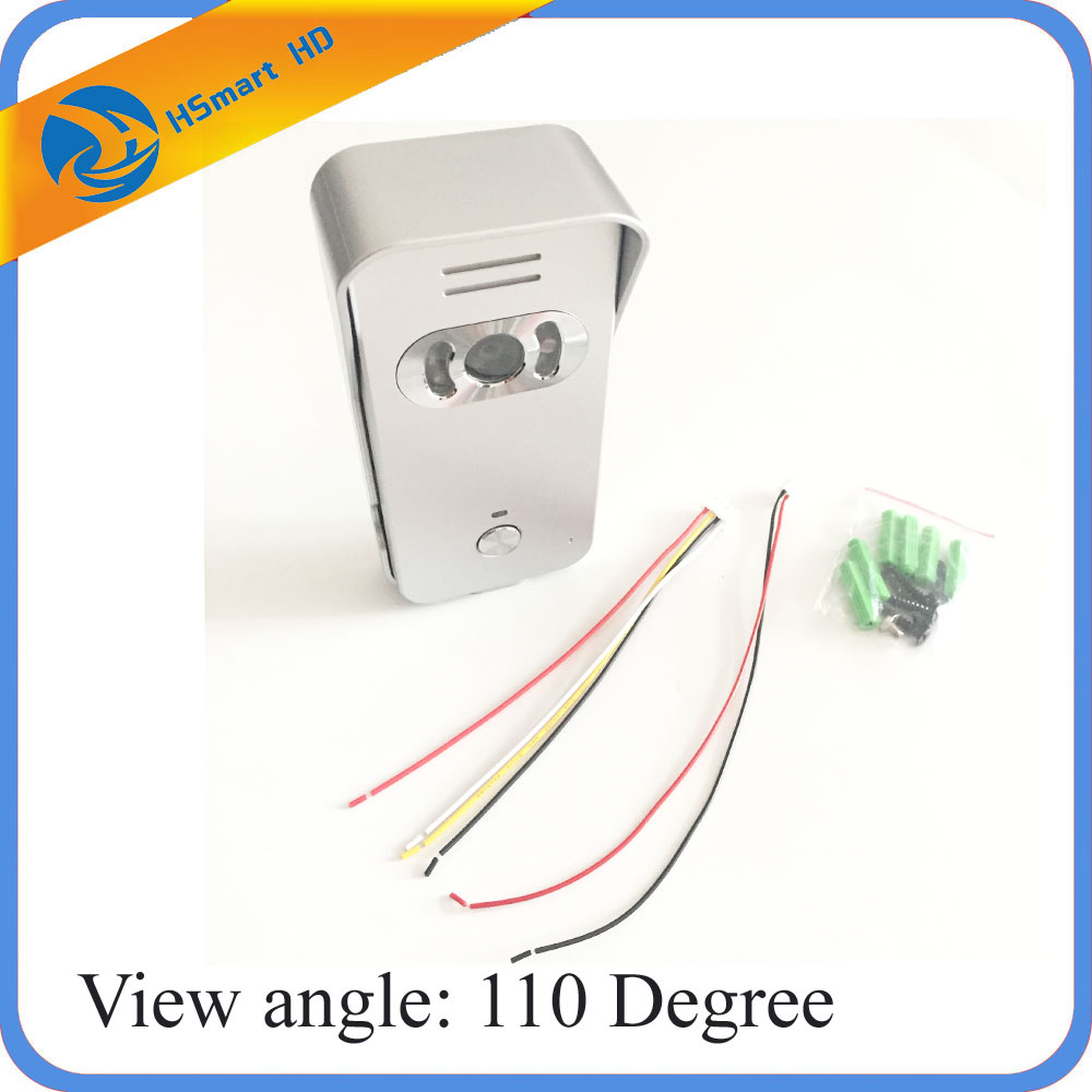 For Color LCD Video Door Phone Doorbell Entry Intercom System 1 Color Wide Angle Night Vision Outdoor Waterproof Camera<br>