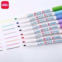 Deli Erasable Whiteboard Marker Pens 8pcs Assorted Colors Value Set office Dry Erase Markers Office Supplies for Glass Windows(China)