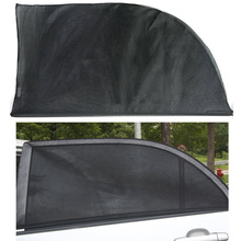 2PCS Adjustable Car Window Sun Shades UV Protection Shield Mesh Cover Visor Sunshades size L(China)