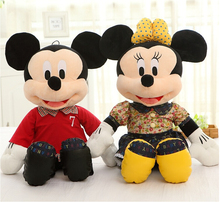 Children baby Stuffed Toy mickey and minnie PP cotton plush kid toys birthday gift doll 50CM
