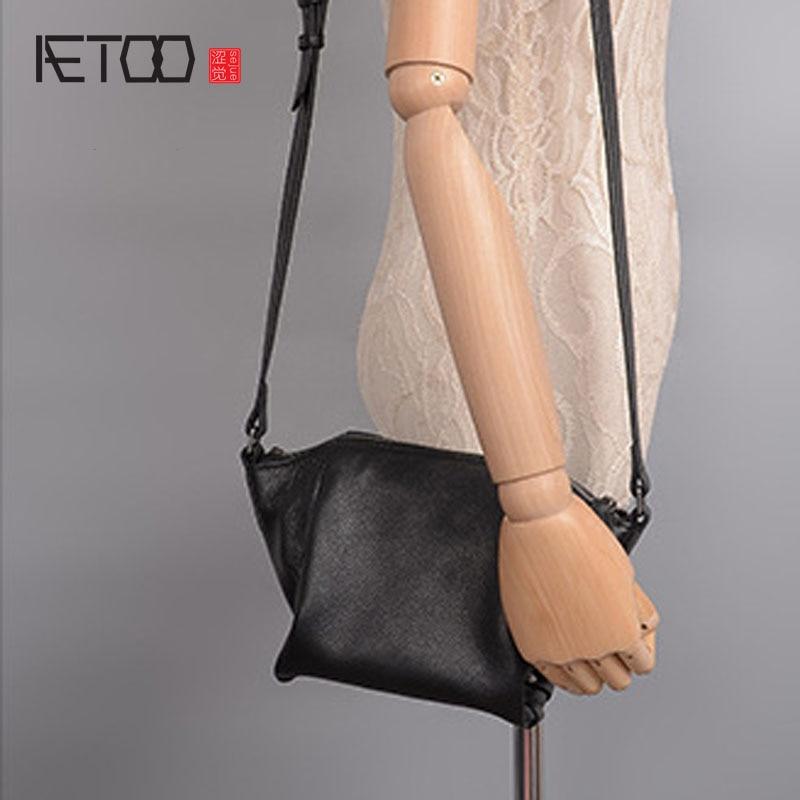 AETOO Leather handbags 2017 new casual fashion wings ladies shoulder Messenger bag wallet bag<br>