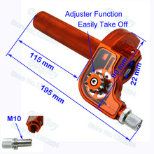 7/8'' 22mm CNC Adjustable Twist Throttle Aluminum Orange For KTM Dirt Pit Bike Motorcycle Motocross