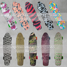 Peny board skateboards Complete Retro elektroscooter Mini Longboard Skate Fish Skateboard freeline drift skate board 10 Style