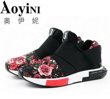Hot sale Spring and summer men trainers casual mesh air men zapatillas hombre shoes Casual Flats shoes(China)