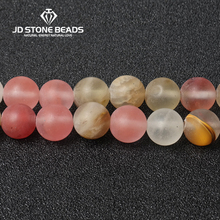 JD Stone Beads Free Shipping Frost Watermenlon Crystal Personalized Fashion Hand-made Jewelry Ornament(China)