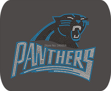 Panthers logo 10pcs/Lot, free shipping, hot fix motif, rhinestone transfer, iron on motif,wholesale price