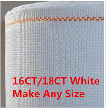 Whites 16CT OR 18CT  Discount Shop Canvas Fabric  Aida Cloth Cross Stitch 59.06X39.37inch  Or Make Any Size
