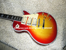 Newest Cherry Burst Les Custom Electric Guitar 3 Pickups Wholesale Guitars OEM Cheap(China)