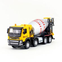 1:50 Scale/Diecast Model/Volvo Cement Mixer Truck Car/Engineering Toy/Sound & Light/Educational Collection For Children/Gift(China)