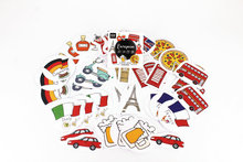 (45pcs/pack) European Countries Stickers Pack Post It Kawaii Planner Scrapbooking Sticky Stationery Escolar School Supplies2017