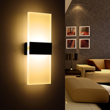 Simple Acrylic led wall lamp Modern Bedroom Wall Lamps Abajur Applique Murale Bathroom Sconces Home Lighting Led Wall Light