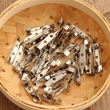 Hot selling 25mm Facility 50pcs Silvery White Brooch Backs Bar Pins Safety Rolling Catch Summer Dress Brooch accseeories(China)