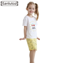 Girls Clothing Set Summer Kids Clothes 2016 Children Brand Sport Suits for Girls Toddler Baby (Tshirts + Shorts) Cotton