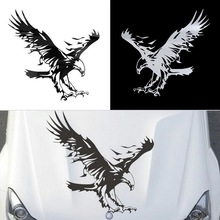 Funny Eagle Pattern Reflective Material Car Stickers Car Engine Hood Decal Emblem cool car styling hot selling&high quality(China)