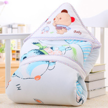 Baby Quilt Newborn Envelope Receiving Blankets Cotton Baby Deken Chunky Knit Blanket Cotton Printed Animal Baby Blanket 608027