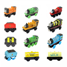 5pcs/lot Thomas and His Friends Wooden Train Set 30 Types Magnetic Slot Diecast Vehicle Thomas Train Toys for Children(China)