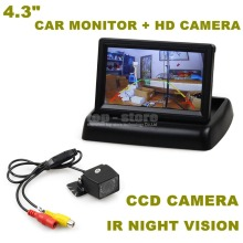 DIYKIT 4.3 Inch Car Reversing Camera Kit Back Up Car Monitor LCD Display HD CCD Car Rear View Camera Free Shipping