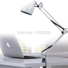 American led desk lamp mechanical folding long arm book light eyeshield iron clamp lamps lightings table lamps for living room