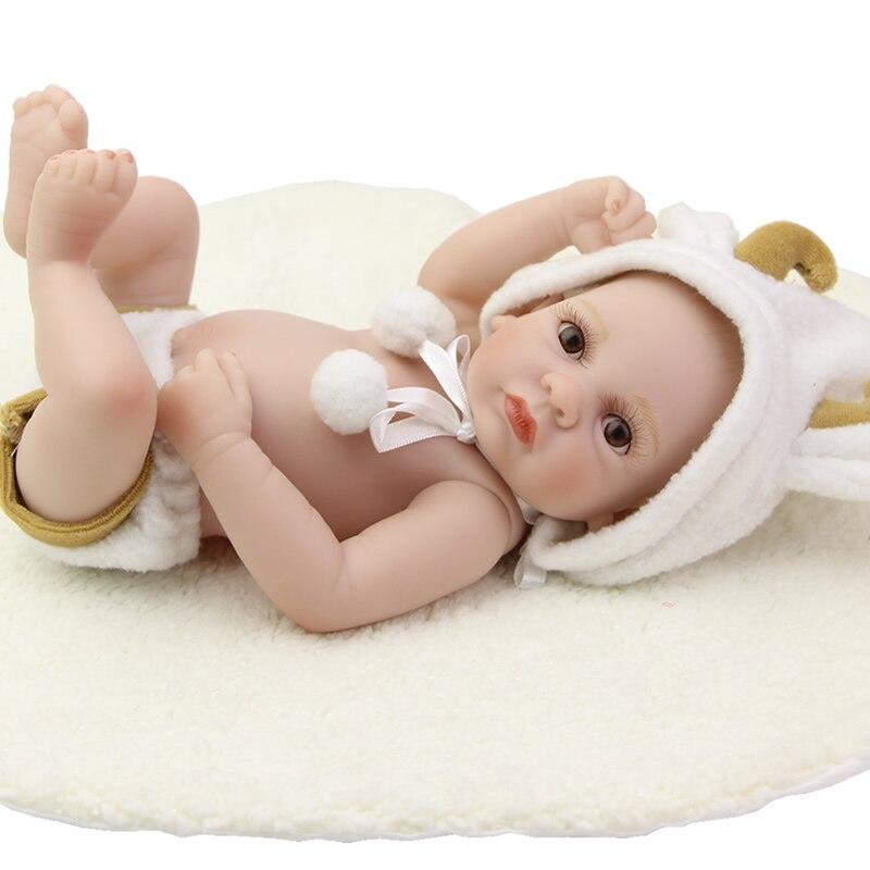 Menino Boneca 11 Inch Real Touch Reborn Boy Baby Dolls Mini Lifelike Newborn Babies With White Set Children Birthday Gift <br><br>Aliexpress