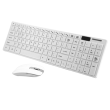 2.4GHz Ultra-thin Wireless Optical Wireless Keyboard and Mouse USB Receiver for PC Computer 1200DPI 10M Keyboard Mouse Combos