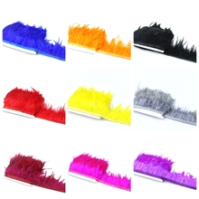 1 Meter 10-15CM Chicken Cock Feathers Trim Cloth Sideband Chicken Rooster Tail Feather Trims Party Clothing Wedding Decoration