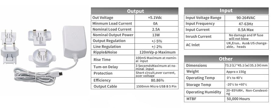 Official Raspberry Pi 3 Model B Power Supply