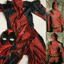 lady movie deadpool mask high quality adult accessories cosplay boys full body deadpool spandex suit men costume for kids