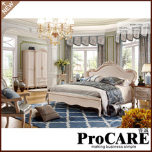 Latest Double Bed Design Furniture Royal Luxury Bedroom Furniture(China)