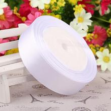 "25 Yards White 1/4"" 6mm 1"" 25MM Satin Ribbon For Diy Crafts Headband Bow Scrapbooks Wedding 1-1/2""40mm"