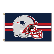 New England Patriots Flag Red Helmet Football Sport Team Banner Super Bowl Champions Banner 100D Polyester Flag(China)