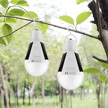 Emergency Lights Portable Outdoor Hanging Lantern LED Solar Power Lamp E27 AC85-265V Rechargeable LED Bulb Camping Tent Fishing