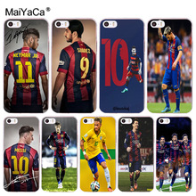 MaiYaCa Neymar Messi Football Soccer soft tpu phone case cover for iPhone 8 7 6 6S Plus X 10 5 5S SE 5C 4 4S Coque Shell(China)