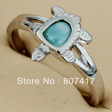 Larimar Rings Fashion jewelry Silver Plated Time limited discount Punk Bohemia Promotion R3528 sz#6 7 8 9 First class products