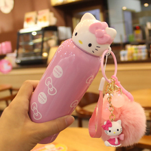New 200ml Kawaii Cute Hello Kitty Cartoon Stainless Steel Thermal Bottle Insulation Cup Birthday /Christmas Gift Kids Rewarding