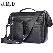 J.M.D Brand Gunine Leather Men Bags Casual Male Messenger Bags Men's Small Briefcase Man Casual Crossbody Shoulder Handbag