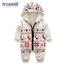 Winter New Thick Christmas Baby Boy Clothes Newborn Baby Warm Rompers Infant Outerwear Christmas Gifts Children's Clothing Jumps(China)