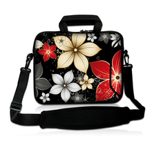 "10.1"" Mini PC Tablet Shoulder Computer Bags For Apple iPad Air 9.7"" Flowers Netbook Carrying Briefcase Notebook Fashion Handbags"