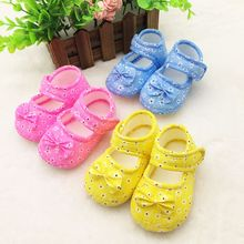Trendy Newborn Kid Girl Boy Pre Walking Shoes Bow Flower Toddler Shoes Baby Shoes 0-18M(China)