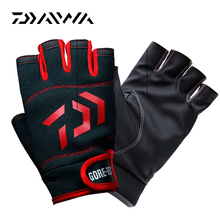 Daiwa Half Finger Men Waterproof  Durable Anti-slip Mat Anti-Cut Pesca Sport Fishing Gloves Fishing Tackle Four seasons isolated
