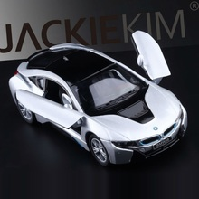 High Simulation Exquisite Diecasts&Toy Vehicles: KINSMART Car Styling I8 Concept Car 1:36 Alloy Diecast Car Model Toy Car(China)