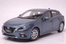 1:18 Diecast Model for Mazda 3 Axela 2014 Blue Hatchback Alloy Toy Car Collection Gifts MX5 MX 5(China)