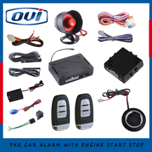 OVI new PKE car alarm system with ignition start stop feature remote engine start stop auto central lock(China)