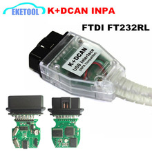 Professional FT232RL Chip For BMW INPA K+CAN Ediabas Code Reader OBD2 USB Interface INPA K+DCAN For BMW Series Free Shipping