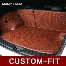 Custom fit car trunk mat for Hyundai ix25 ix35 Elantra Sonata Solaris Tucson verna 3D car styling carpet cargo liner(China)